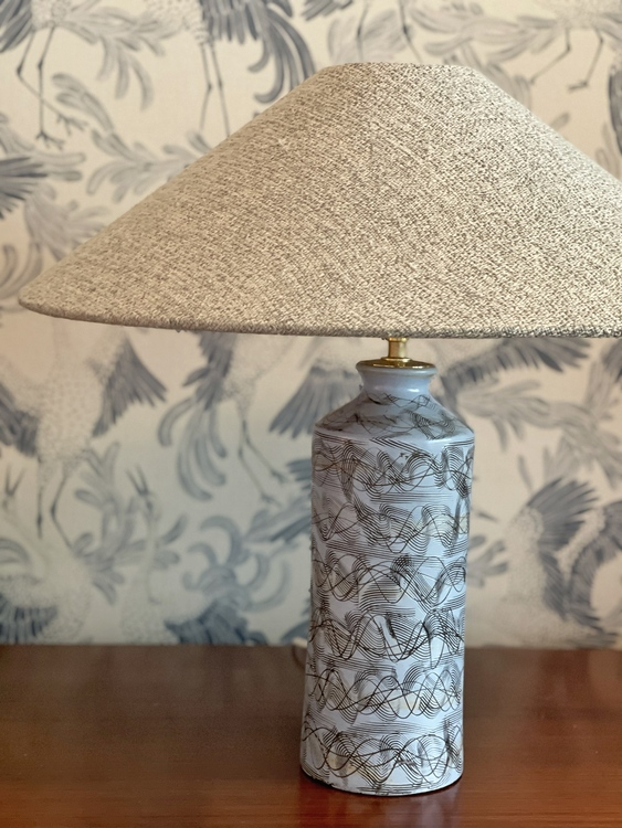 Upsala-Ekeby Large Ceramic Table Lamp. 1950s.