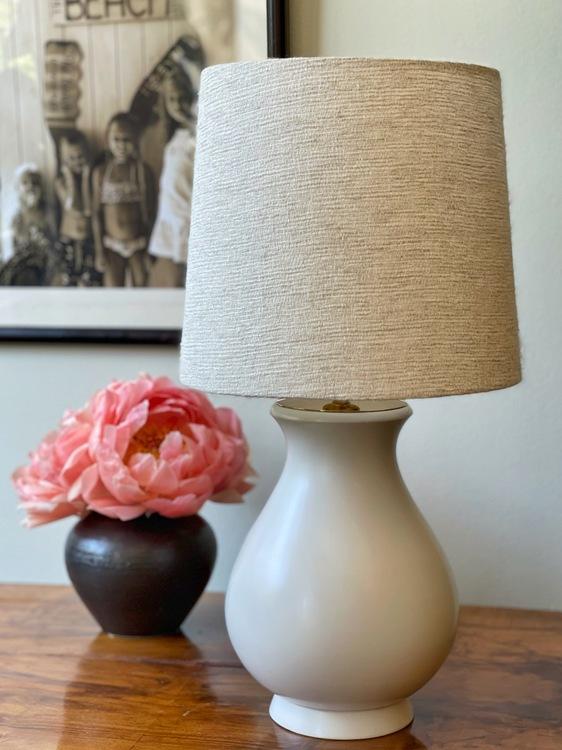 "Wilhelm Kåge ""Carrara"" Ceramic Table Lamp. 1940s."