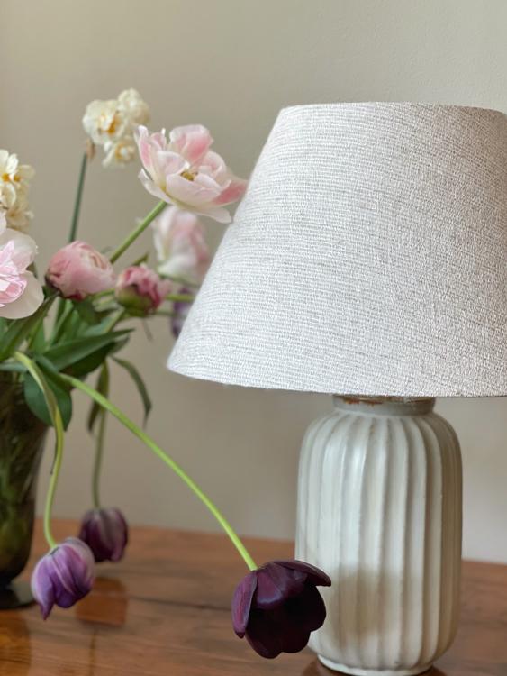 Upsala-Ekeby Art Deco Ceramic Table Lamp. 1940s.