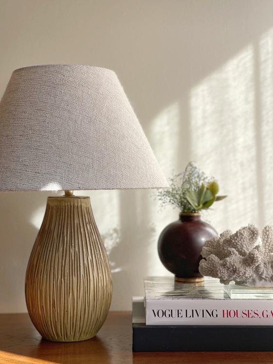 Greta Runeborg Stoneware Table Lamp for Upsala-Ekeby. 1940s.
