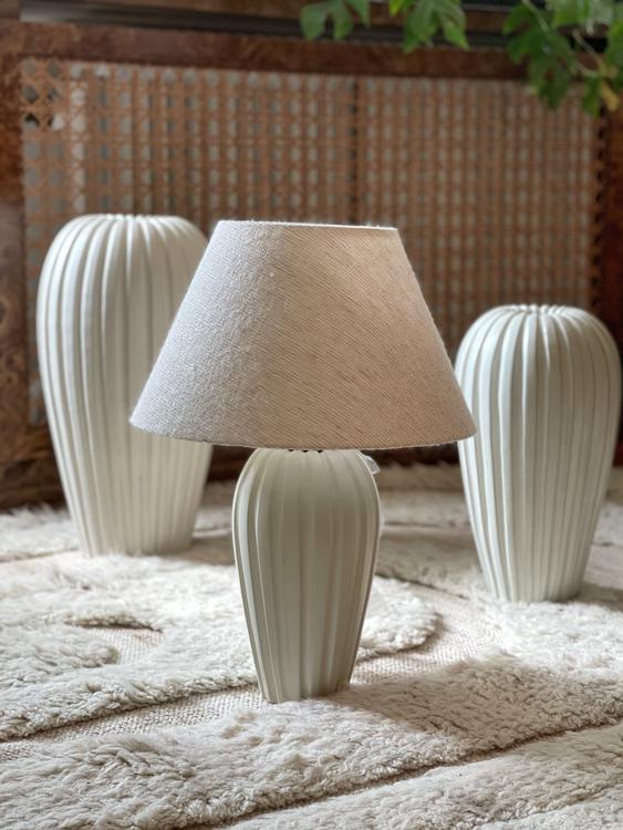 Vicke Lindstrand Stoneware Table Lamp for Upsala-Ekeby. 1940s.