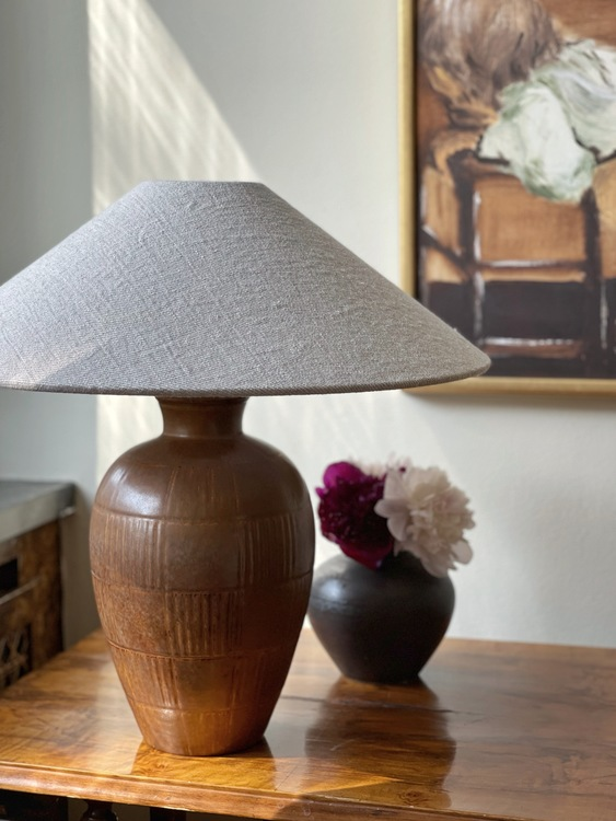 Gunnar Nylund Large Table Lamp for Rörstrand. 1940s.