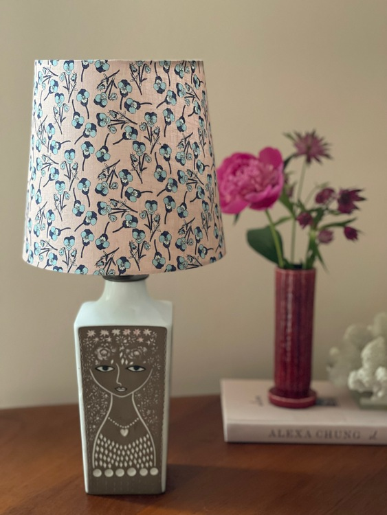 "Upsala-Ekeby Ceramic Table Lamp ""Beata"" by Mari Simmulson. 1960s."