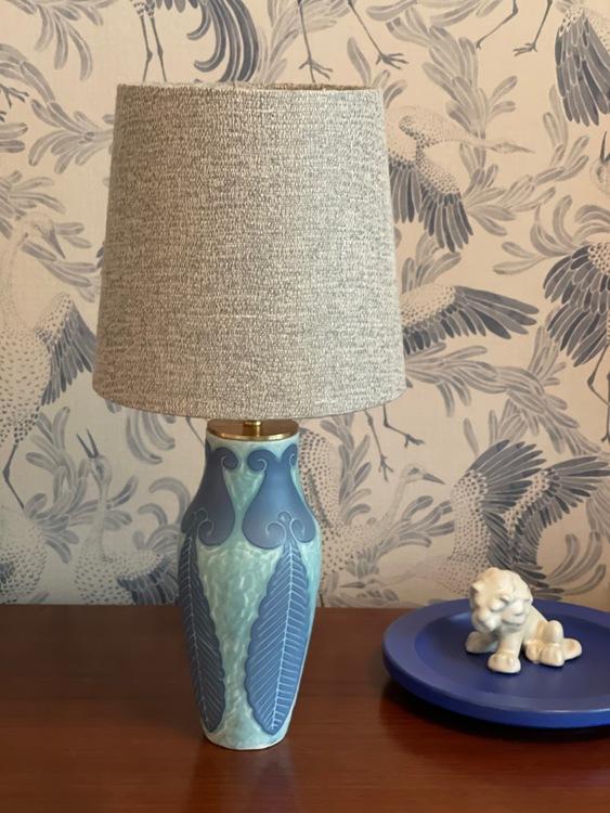 """Josef Ekberg """"Sgrafitto"""" Table Lamp for Gustavsberg"""
