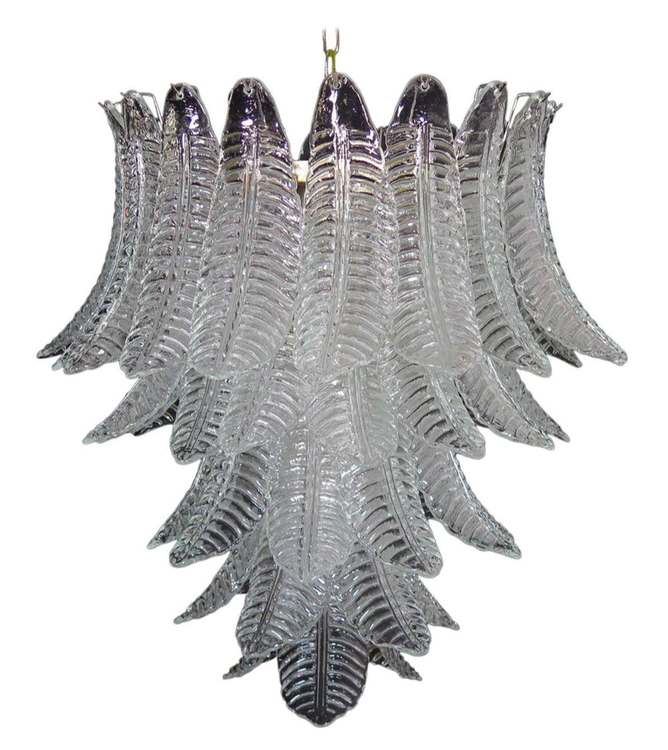 Murano Chandelier 'Feather'. Large Size.