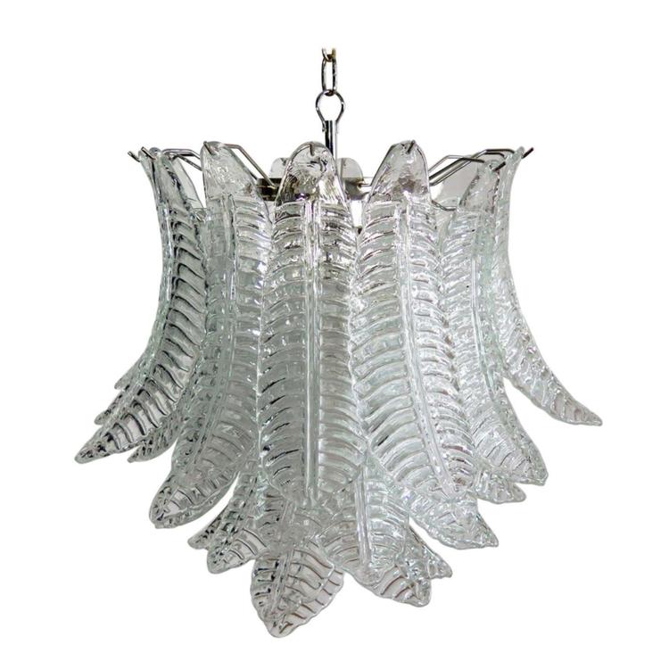Murano Chandelier 'Feather'. Medium Size.
