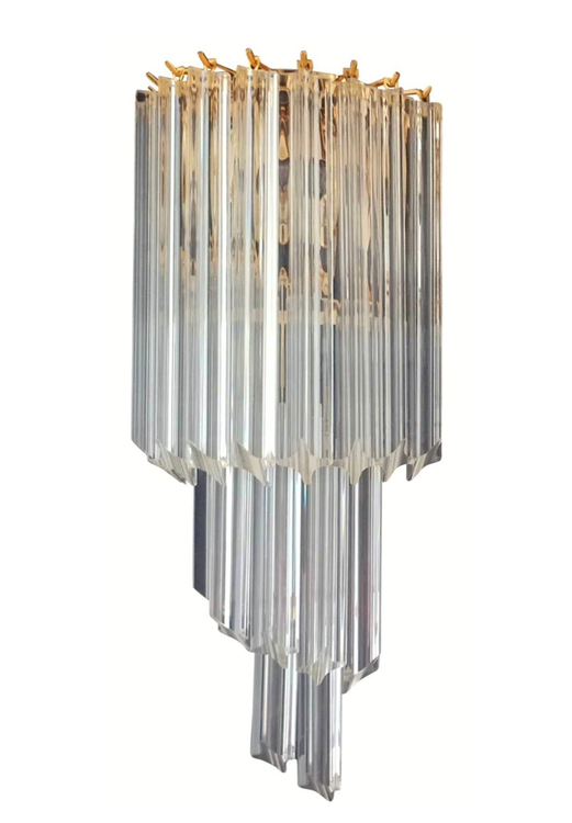 Large Murano Wall Sconce 'SPIRAL'.