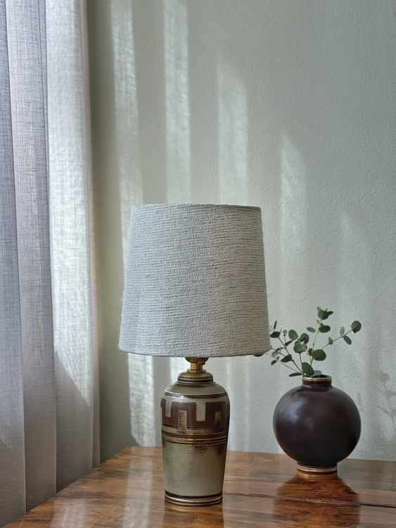 "Gunnar Nylund ""Flambé"" Stoneware Table Lamp. 1950s."
