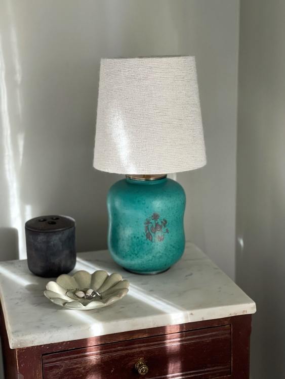 "Wilhelm Kåge Table Lamp ""Argenta"" by Gustavsberg. 1940s."