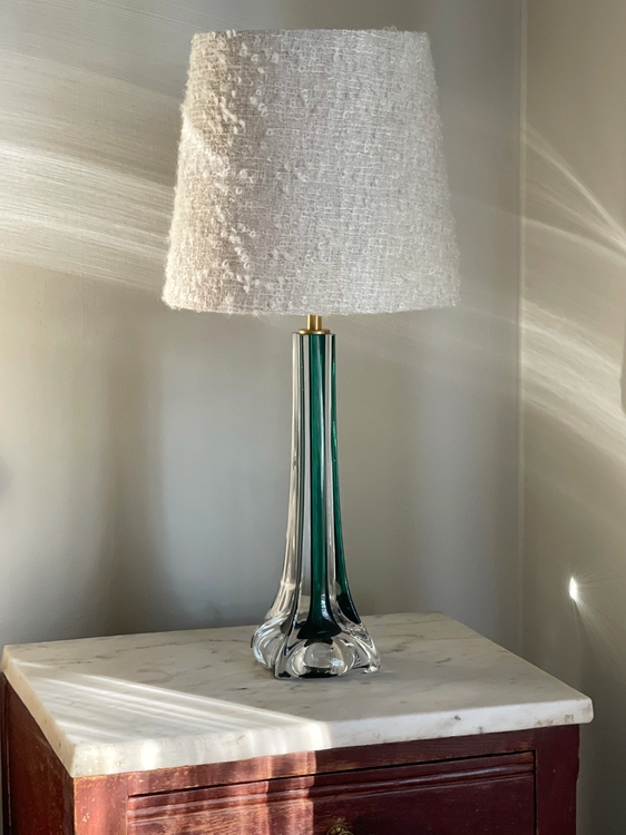 Flygsfors Green Mid-century Modern Table Lamp by Paul Kedelv