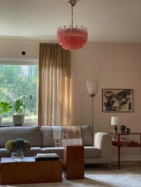 Pink Murano Crystal Chandelier 'Centi'. Medium size.