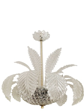 Orrefors Crystal Chandelier with Feathers