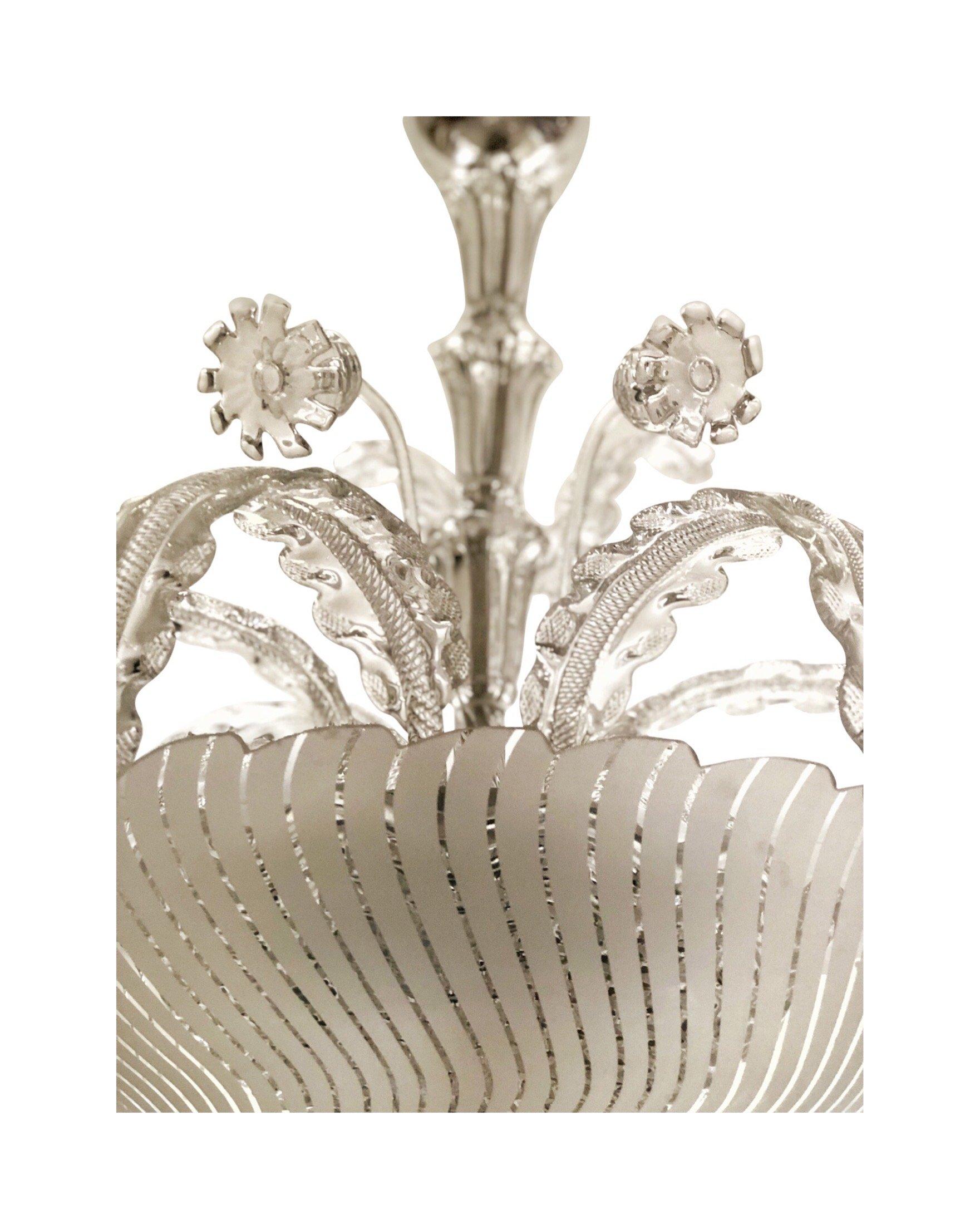 Orrefors Venetian Style Chandelier, attributed Fritz Kurz
