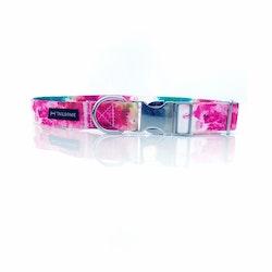 Halsband Tyg Färgglad Rosa
