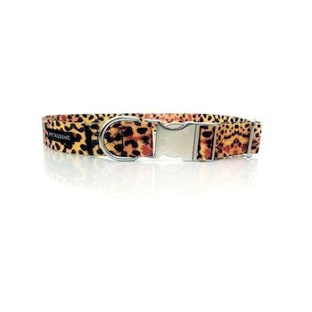 Halsband Tyg Leopard