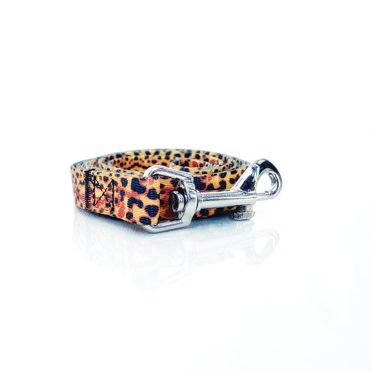 Hundkoppel med mönster i leopard