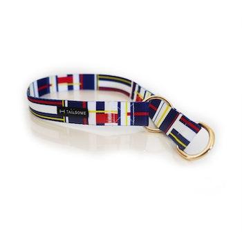 Halsband Halvstryp Tyg Marin Blå