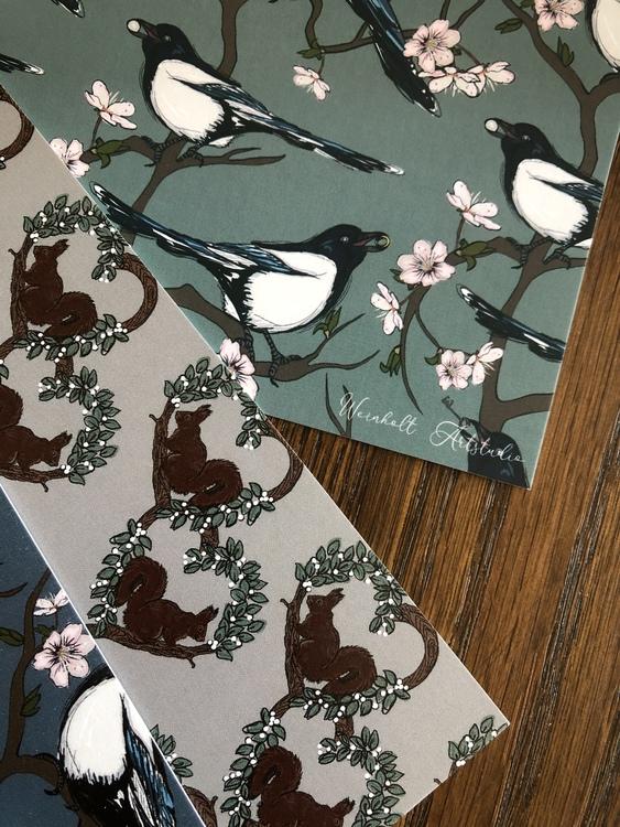 10-pack kort med mönster