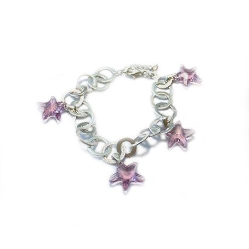 Armband av äkta silver och Swarovski-kristall