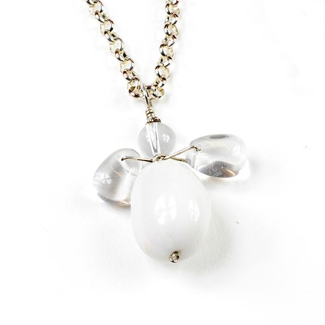 Halsband med vit ängel