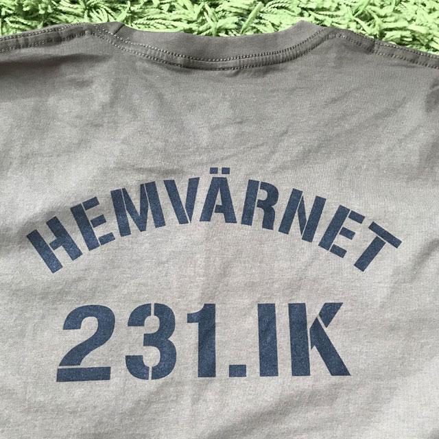 Ryggtryck på en T-Shirt 231.IK.