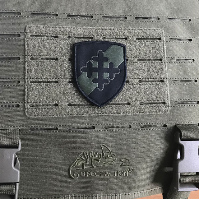 Tygmärke med kardborre 231.IK.