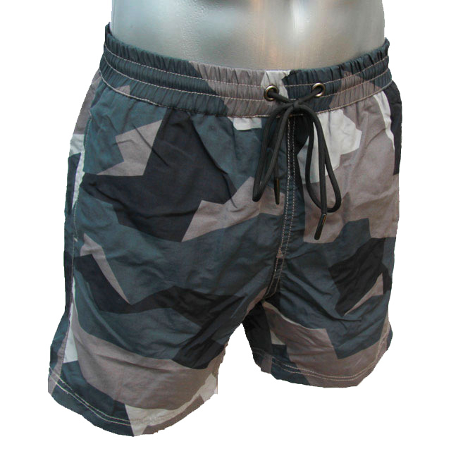 POSEIDON Swim Shorts M90 Grey seen from the side front on manequin