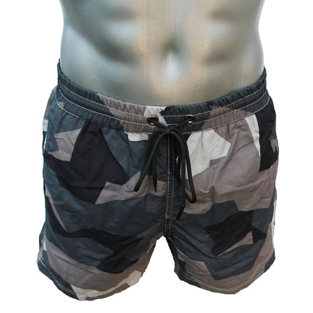 POSEIDON Swim Shorts M90 Grey seen full front and above on manequin