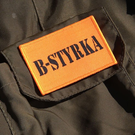 B-Styrka Orange Hook Patch.