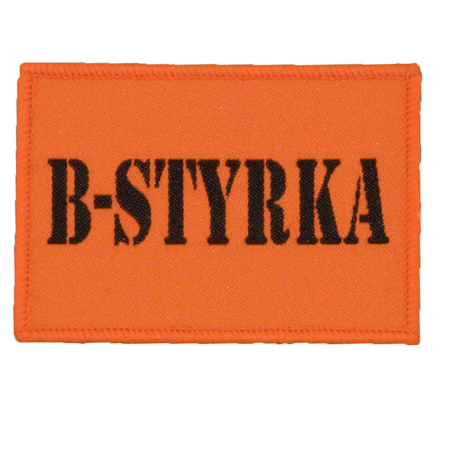 B-Styrka Orange Hook Patch.