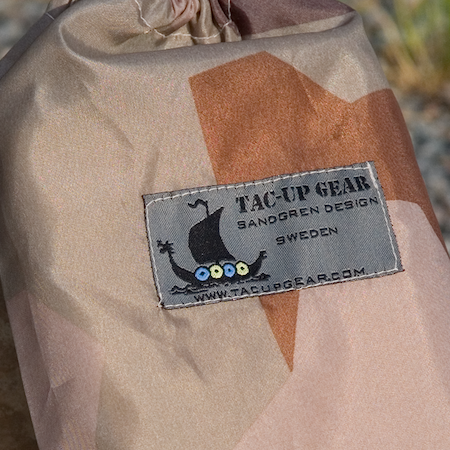 Close up of a Small Bag M90K Desert.