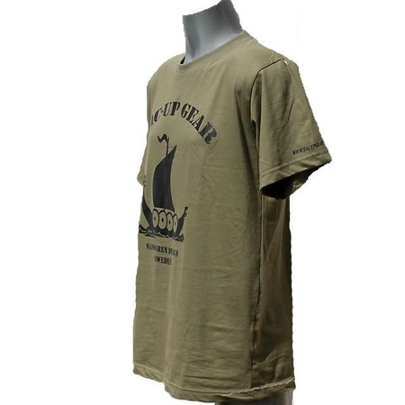 T-Shirt Khaki Green TUG sideview.
