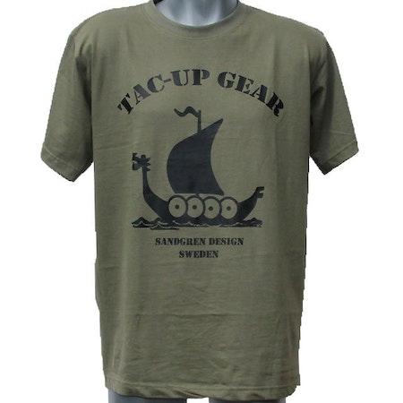 T-Shirt Khaki Green TUG front photo.