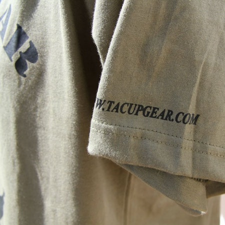 Left arm print on a T-Shirt Khaki Green TUG.