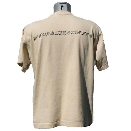 Backview of a T-Shirt Tan TUG.