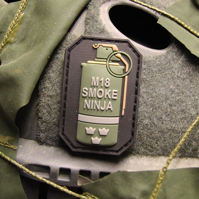 Smoke Morale Hook PVC Patch
