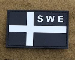 Sweden Flag OPS PVC Black White Patch
