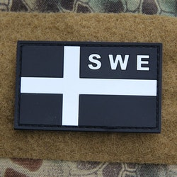 Sweden Flag OPS PVC Black White Patch