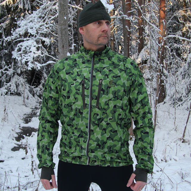 Winter front picture of a Running Jacket M90 MI.