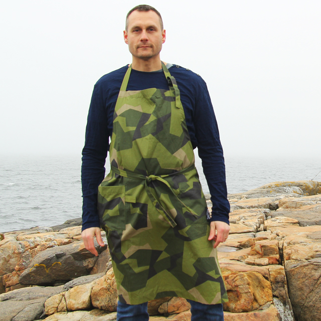 Down by the sea and ready to cook in a Apron M90.