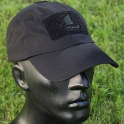 Tactical Baseball Cap Black with Viking ship