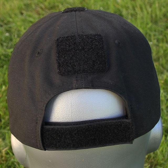 Tactical Baseball Cap Black with Viking ship