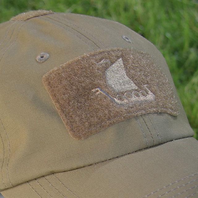 Vikingship logo on a Baseball Cap Coyote.