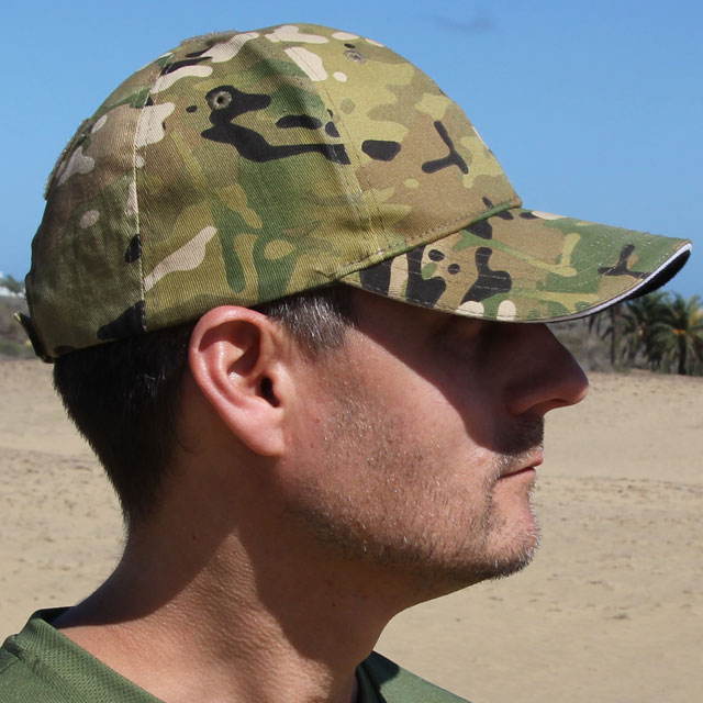 Side view of a Baseball Cap Multicam Type.