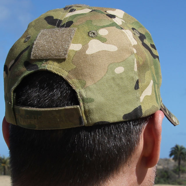 Back view of a Baseball Cap Multicam Type.