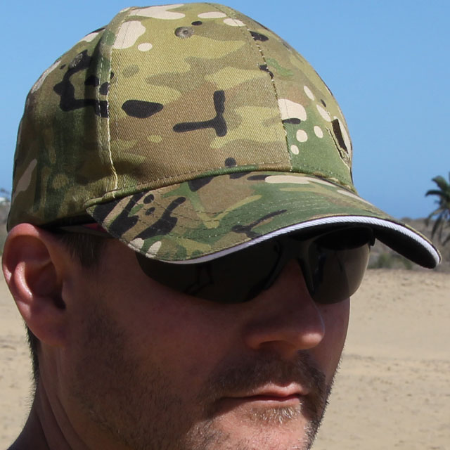 Shade from a Baseball Cap Multicam Type.