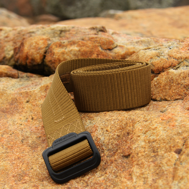 Rolled and flat on stone - Expedition Belt Coyote.