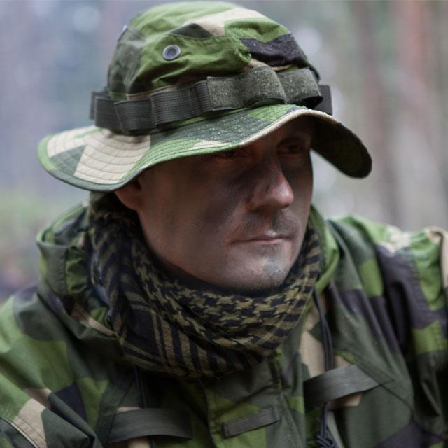 Boonie Hat NCWR M90 worn outdoors.