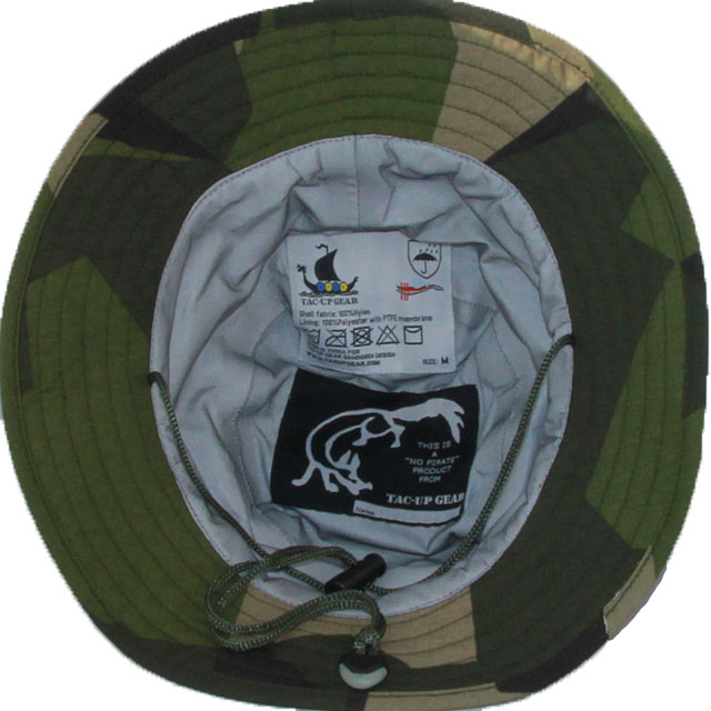 The inside of the skull on a Boonie Hat NCWR M90.