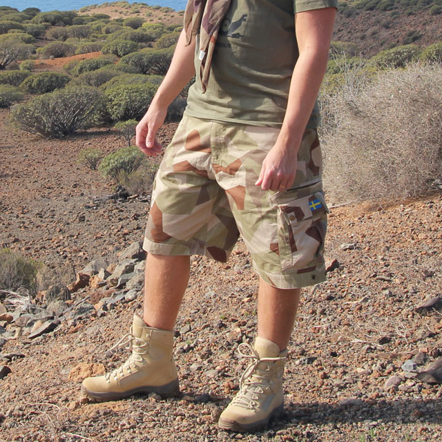 Camp Shorts M90K Desert worn in a hot environment.